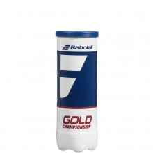 Tube de 3 Balles Babolat Gold Championship