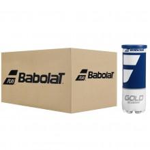 Carton de 24 Tubes de 3 Balles Babolat Gold Academy