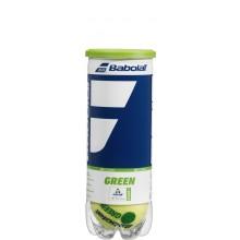 Tube De 3 Balles Babolat Green