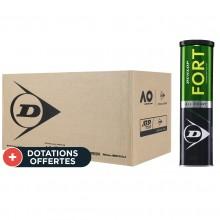 Carton De 18 Tubes De 4 Balles Dunlop Fort Tournament Select
