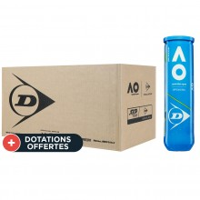 Carton De 18 Tubes De 4 Balles Dunlop Australian Open