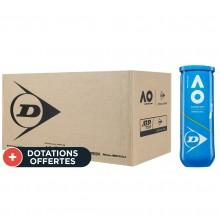 Carton De 24 Tubes De 3 Balles Dunlop Australian Open