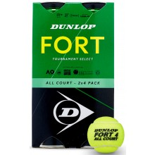 Bipack de 4 Balles Dunlop Fort Tournament Select