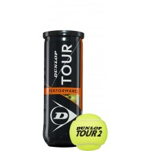 Tube De 3 Balles Dunlop Tour Performance