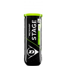Tube De 3 Balles Dunlop Easy Tennis Stage 1 Vertes