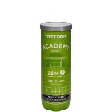 Balles Tretorn Academy Green x3