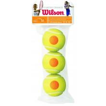 Sachet de 3 Balles Wilson Starter Orange