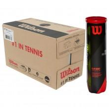 Carton De 18 Tubes De 4 Balles Wilson Tour Premier Clay