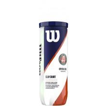 Tube De 3 Balles Wilson Roland Garros Clay Court