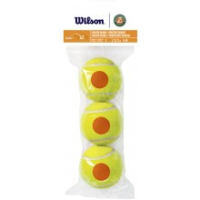 Sachet De 3 Balles Wilson Roland Garros Starter Orange