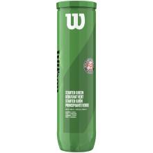 Tube De 4 Balles Wilson Roland Garros Starter Green