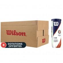 Carton De 24 Tubes De 3 Balles Wilson Roland Garros Clay Court