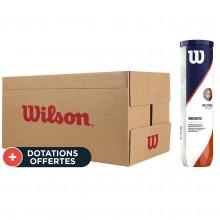 Carton De 18 Tubes De 4 Balles Wilson Roland Garros Clay Court