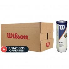 Carton De 24 Tubes De 3 Balles Wilson Roland Garros All Court
