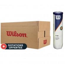 Carton De 18 Tubes De 4 Balles Wilson Roland Garros All Court