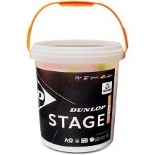 Baril De 60 Balles Dunlop Mini Tennis Stage 2 Orange
