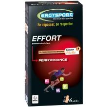 6 Sticks Ergysport Pour Boisson d'Effort 30G - Pêche