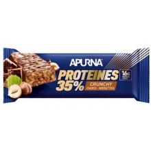 BARRE HYPERPROTEINEE CRUNCHY APURNA 45G - AROME CHOCOLAT NOISETTE