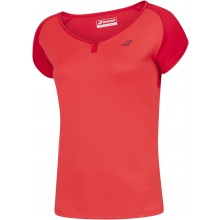 Tee-shirt Babolat Junior Fille Play Rouge