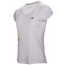 Tee-Shirt Babolat Junior Fille Flag Core Club Blanc
