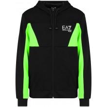 Sweat à Capuche EA7 Training Sporty Colour Flash Zippé Noir
