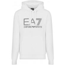 Sweat à Capuche EA7 Training Sporty Visibility Blanc