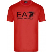 Tee-Shirt EA7 Training Sporty 7 Lines Rouge