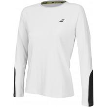 Tee-Shirt Babolat Femme Core Manches Longues Blanc