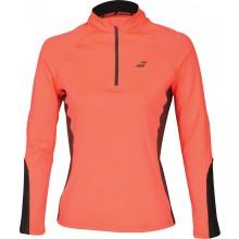 Tee-Shirt Babolat Femme Core Col V 1/2 Zippé Orange