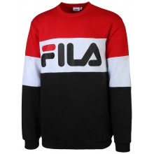 Sweat Fila 3 Couleurs Ras Du Cou Rouge