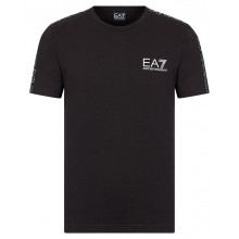 Tee-Shirt EA7 Train Logo Series Tape Noir