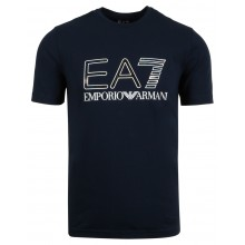 Tee-Shirt EA7 Train Logo Series Holographic Marine