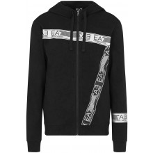 Sweat à Capuche EA7 Train Logo Series Zippé Noir
