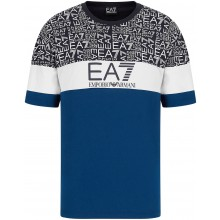 Tee-Shirt EA7 Training Sporty Logo Series Bleu
