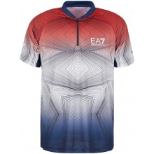 Polo EA7 Pro Tennis Dynamic Fognini Rouge