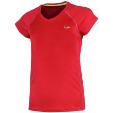 Tee-Shirt Dunlop Junior Filles Crew Rouge