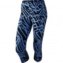 Collant 3/4 Nike Femme Palm Epic Lux Imprimé Bleu