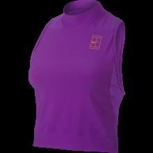 Débardeur Nike Femme Court Baseline Crop Top Col Montant 2017 Violet