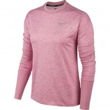 Tee-Shirt Nike Femme Element Manches Longues Rose