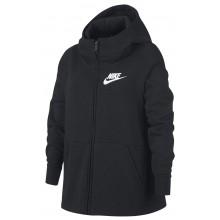 Sweat à Capuche Nike Junior Fille Sportswear Zippé Noir
