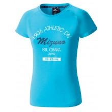 Tee-Shirt Mizuno Femme Héritage Bleu