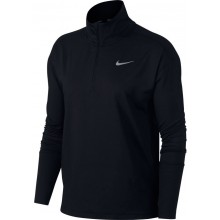 Tee-Shirt Nike Femme  Manches Longues 1/2 Zip Noir