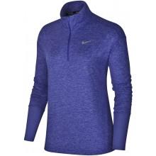 Tee-Shirt Nike Femme Element Manches Longues 1/2 Zip Violet