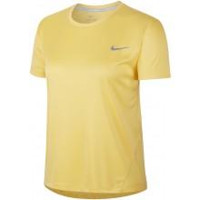 Tee-Shirt Nike Femme Miler Manches Courtes Jaune