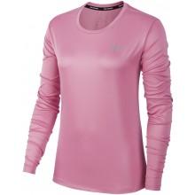 Tee-Shirt Nike Femme Miler Manches Longues Rose