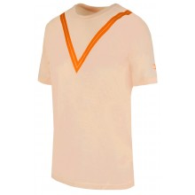 Tee-Shirt Nike Court Junior Federer US Open Pêche