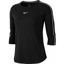Tee-Shirt Nike Court Femme Manches 3/4 Noir