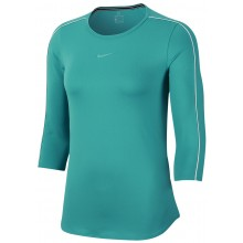 Tee-Shirt Nike Court Femme Manches 3/4 Turquoise