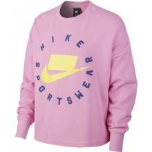 Sweat Nike Femme Sportswear Court Ras du Cou Rose