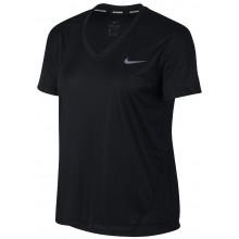 Tee-shirt Nike Femme Miler Col V Manches Courtes Noir